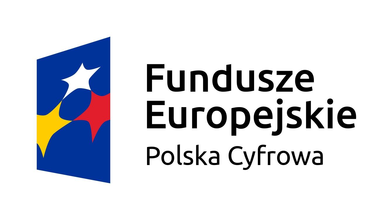 Logo Funduszy Europejskich Polska Cyfrowa