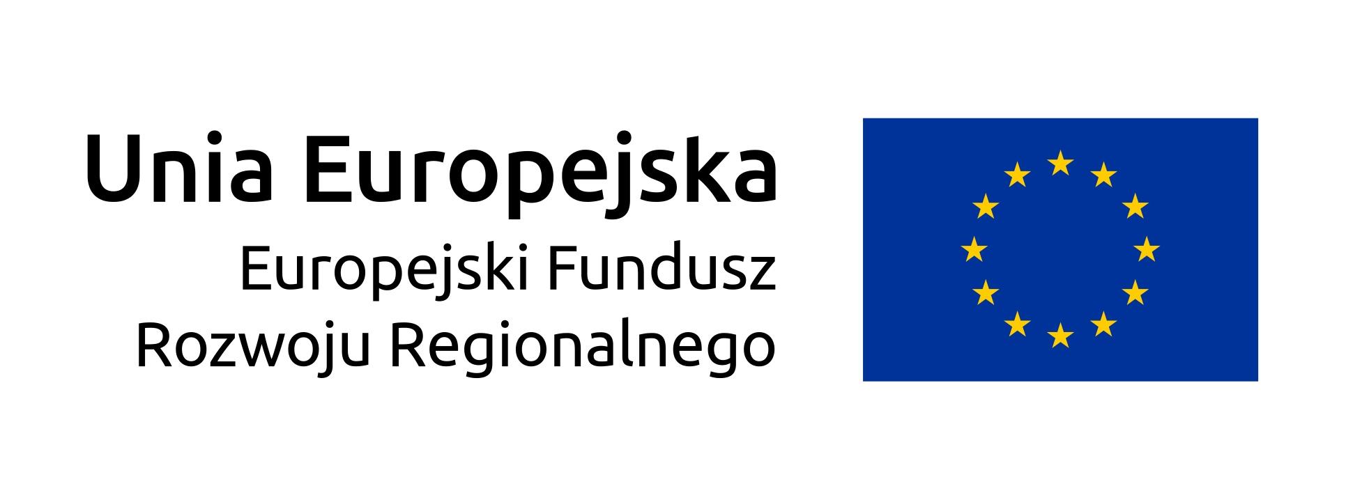 Flaga Unii Europejskiej - Europejski Fundusz Rozwoju Regionalnego